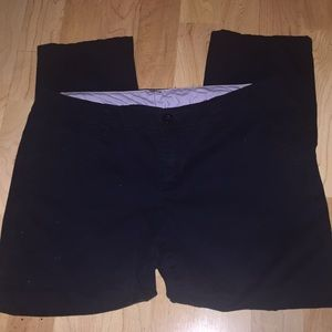 Cropped Navy Blue Pants 8P